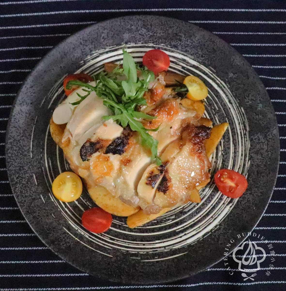 椰香沙嗲燒雞扒拼薯角 (兩磅裝)