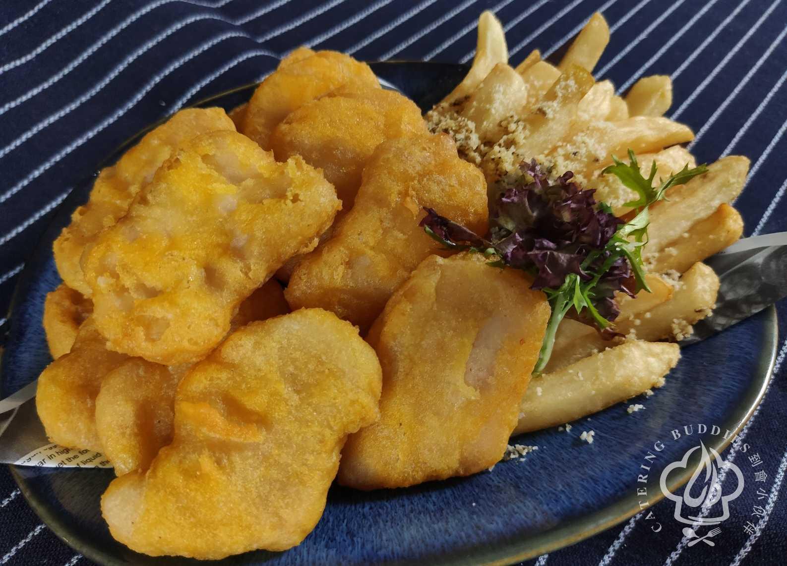 黑松露芝士薯條拼脆炸麥樂雞 (1份)